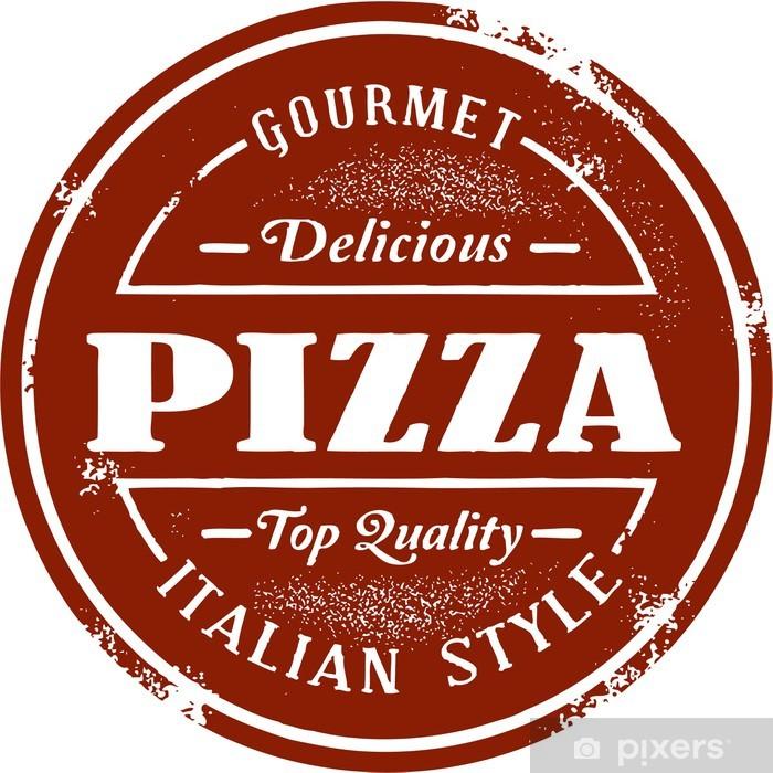 Naklejka Pixerstick Vintage Stamp Pizza - Posiłki