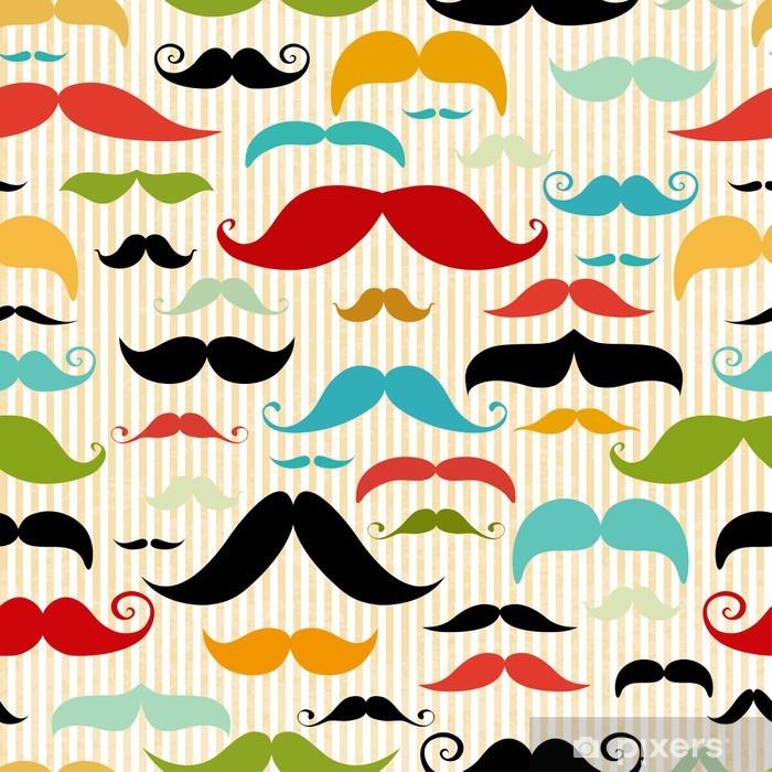 Pixerstick Sticker Snor naadloze patroon in vintage stijl - Snor