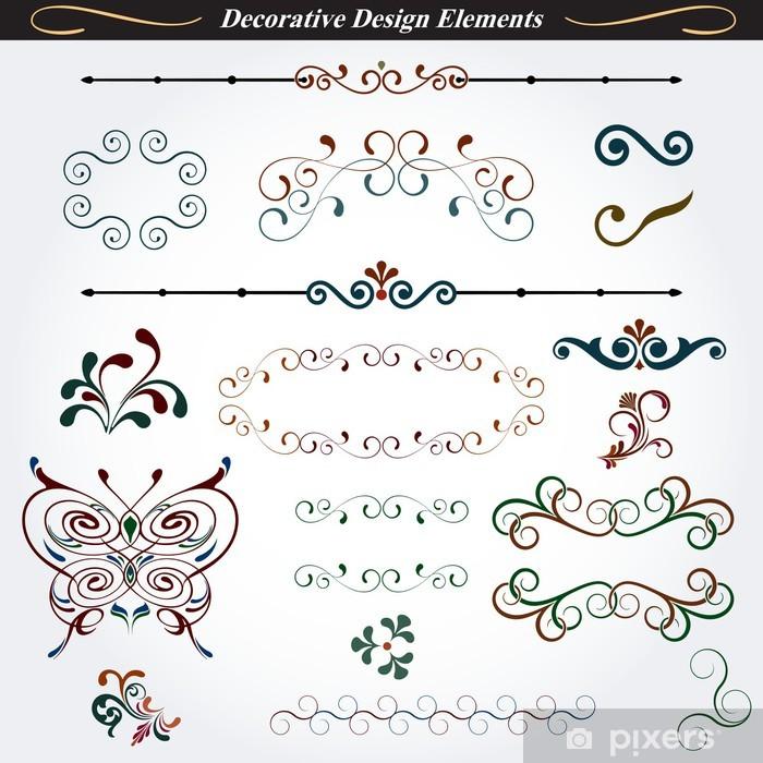 Vinylová fototapeta Kolekce dekorativní prvky designu 03 - Vinylová fototapeta