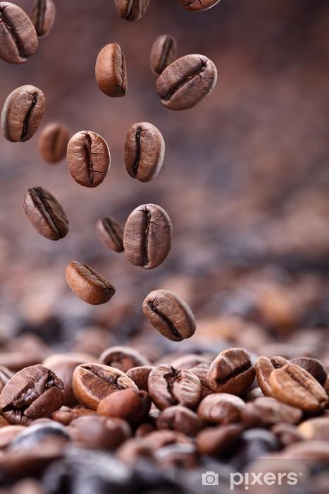 Naklejka Pixerstick Spadające ziarna kawy - Tematy