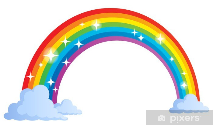 Image with rainbow theme 1 Vinyl Wall Mural - Wall decals