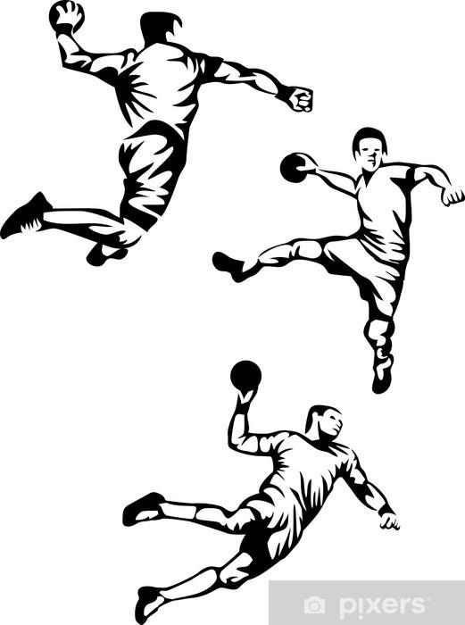 Dørklistremerke Håndballspiller - Lagidrett
