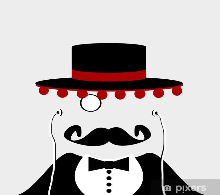 Carta da Parati in Vinile Uomo con cappello e auricolari spagnolo - Uomini f1c7a1dad617