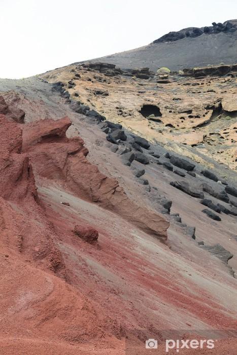 Vinyl Fotobehang Vulkanische landschap op Lanzarote, Canarische Eilanden - Europa