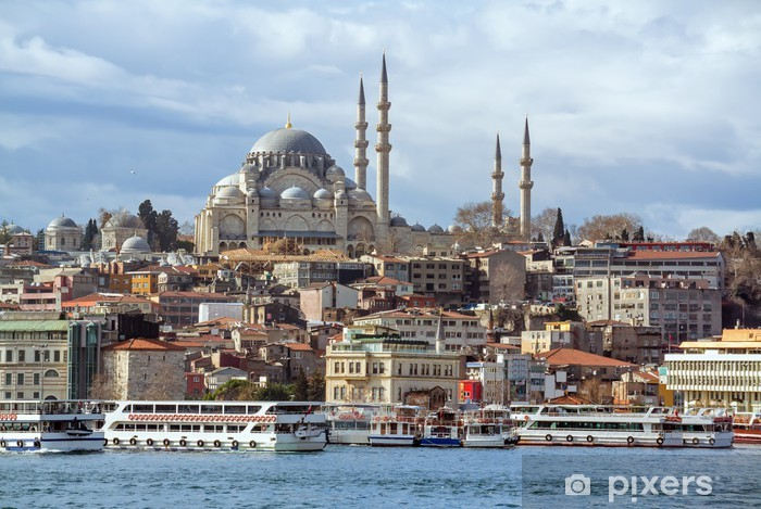 Suleymaniye Mosque in Istanbul Turkey Pixerstick Sticker - The Middle East