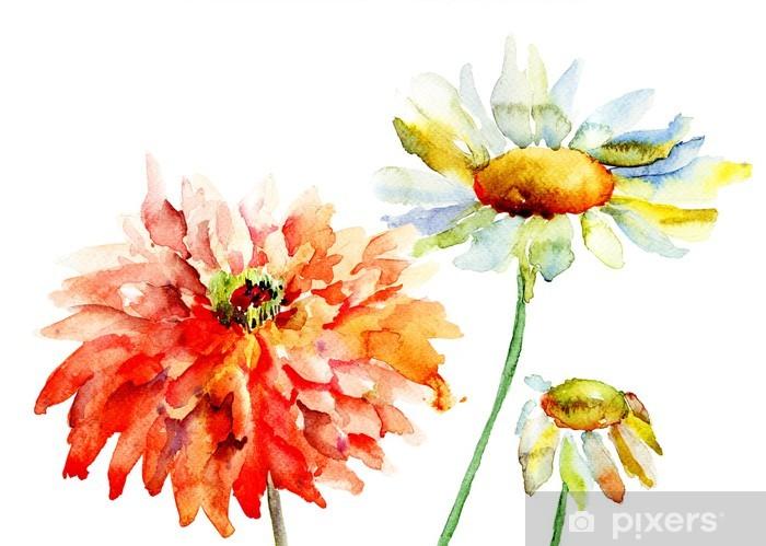 Beautiful decorative flowers Vinyl Wall Mural - Flowers