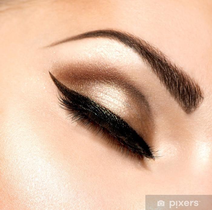 Papier peint vinyle Beaux yeux Rétro Make-up - Femmes