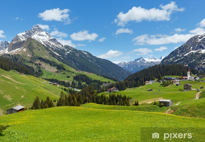 Vinilo Pixerstick Alpine vista (Vorarlberg, Austria) - Destinos