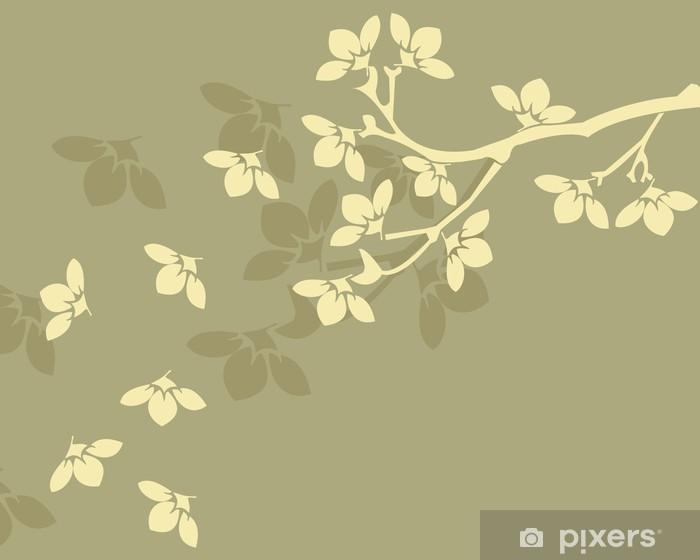 Fototapeta winylowa Tło kwiatowe - Drzewa
