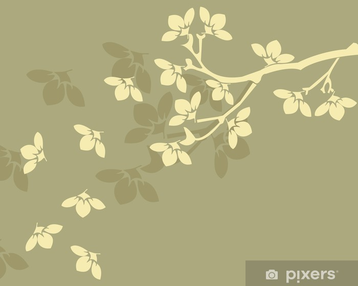 Floral background Vinyl Wall Mural - Trees