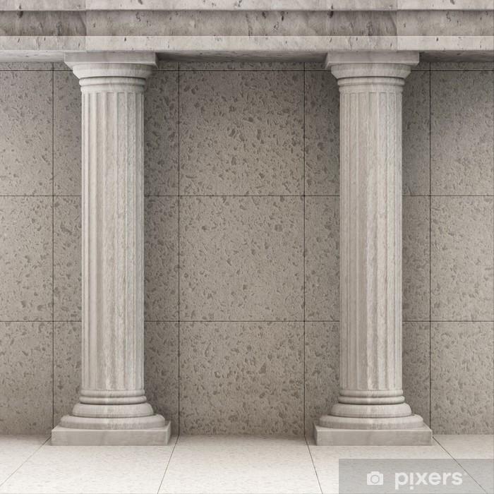 Poster Classique Intérieur antique avec des colonnes - Thèmes