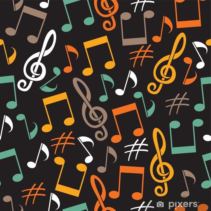 Poster Musikalischen Hintergrund von Notizen - Hintergründe
