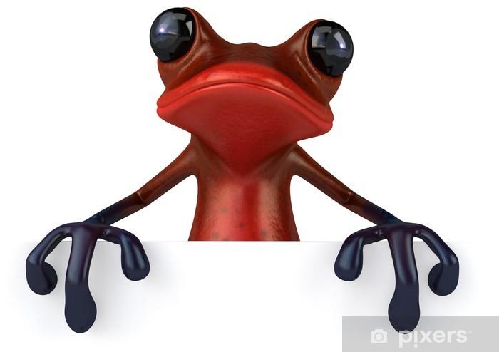 Naklejka Pixerstick Czerwona żaba - Znaki i symbole