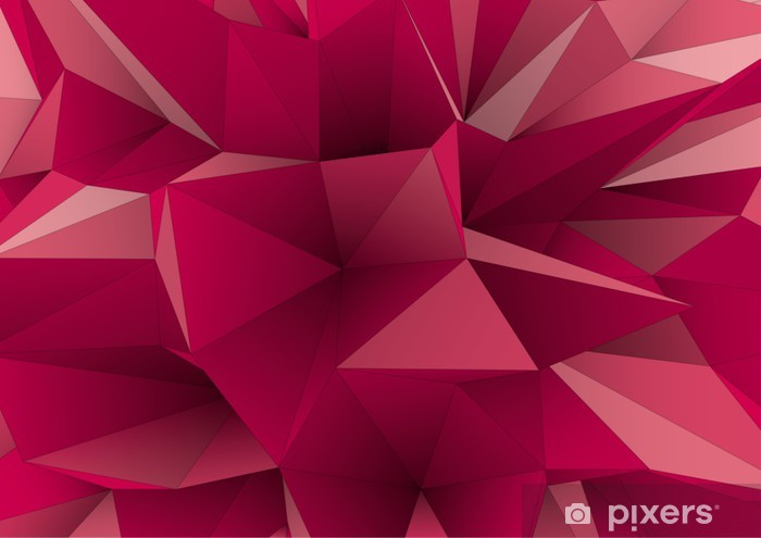 abstract triangular crystalline background, low poly style Vinyl Wall Mural - Themes