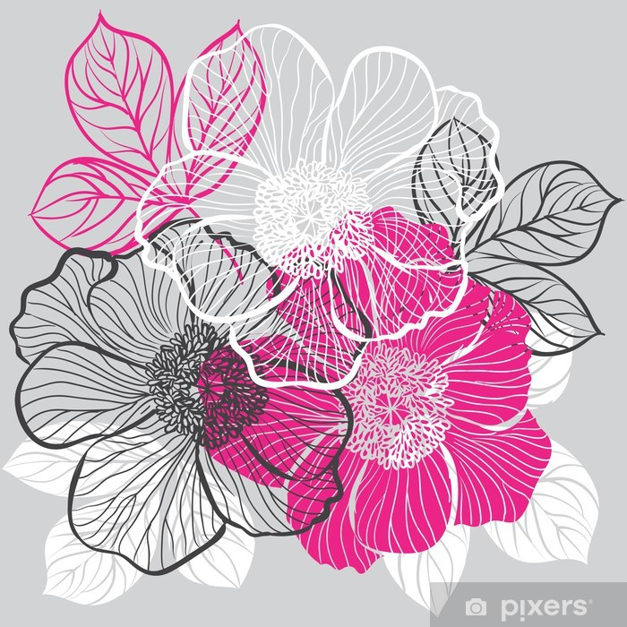 Floral Background With Flowers Of Peony Wall Mural Pixers We Live To Change
