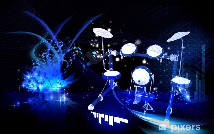 Vinyl Fotobehang Drum - Achtergrond