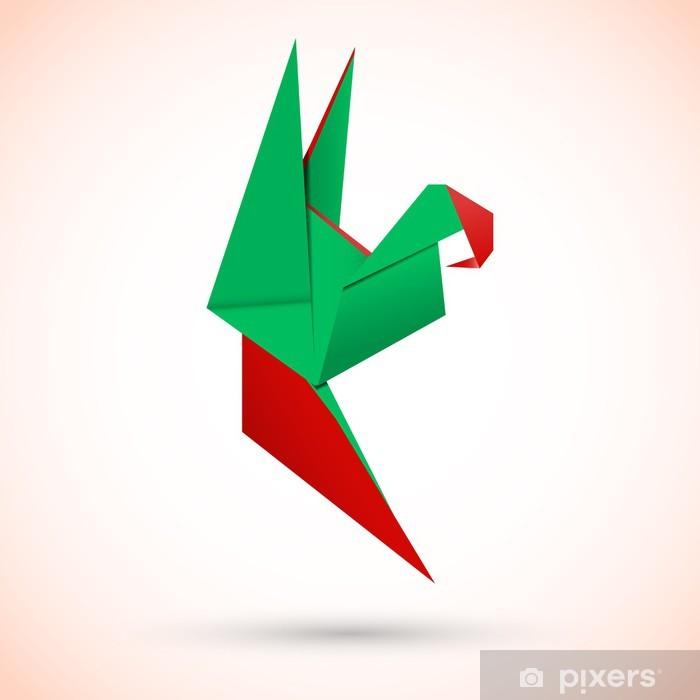Naklejka Pixerstick Papuga origami - Tekstury
