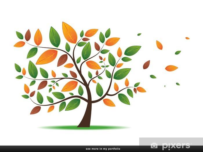 Naklejka Pixerstick Drzewo z liści -, roślina, las - Koncepcje biznesowe