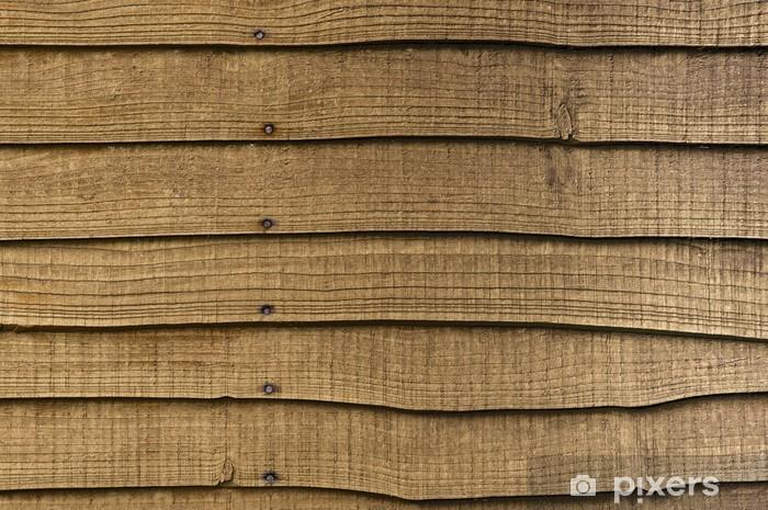 Pixerstick Sticker Houten tuinafscheiding - Zware Industrie