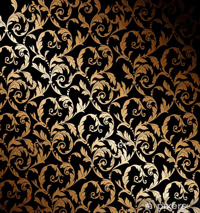 Beautiful gold wallpaper Pixerstick Sticker - Styles