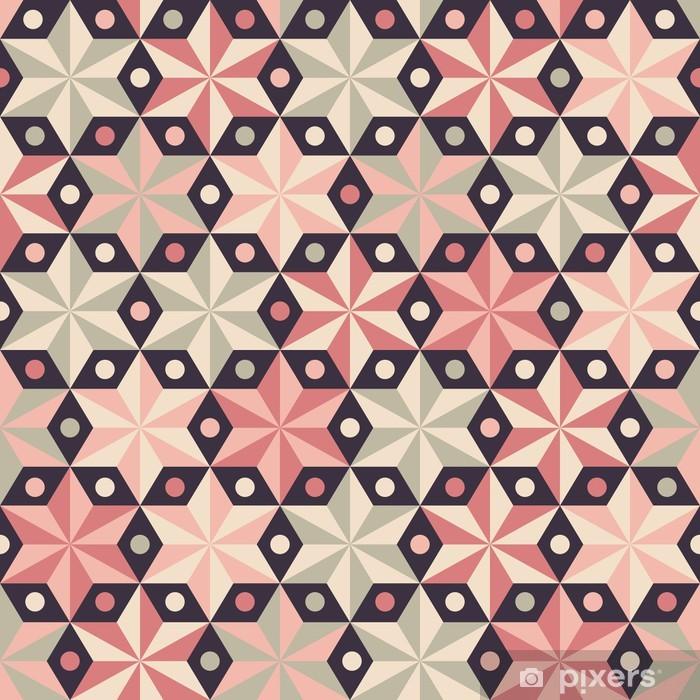 Papier peint vinyle Étoiles d'anis seamless dans des couleurs roses chauds - Thèmes