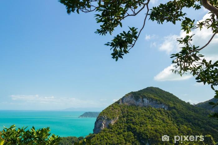 Sticker Pixerstick Parc marin: Point de vue d'Ang Thong National Marine Park - Asie