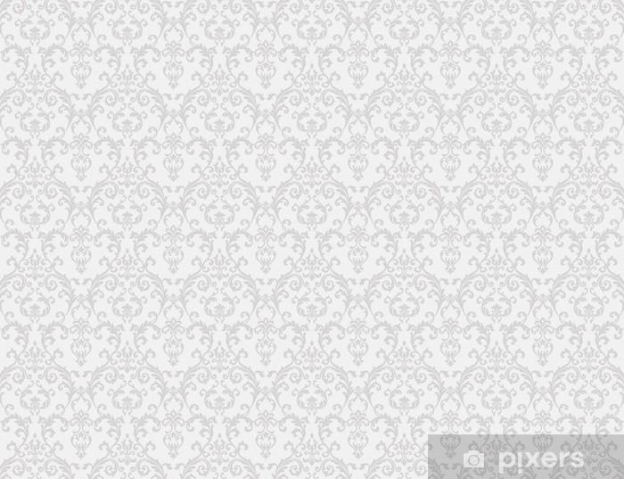 Fototapeta winylowa Biały kwiatowy wzór tapety - Tematy