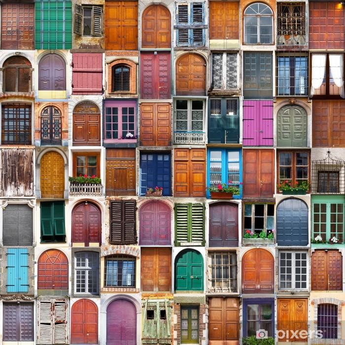 Fototapeta winylowa Drzwi i okna, collage - Przeznaczenia