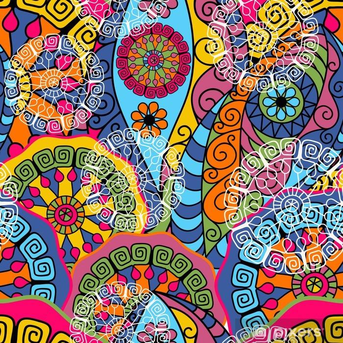 Vinyl Fotobehang Naadloze kleurrijke patroon - Achtergrond