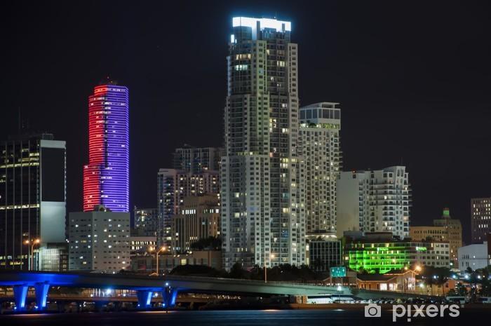 Vinyl-Fototapete Bunte Ansicht der Ausgabe von der Innenstadt von Miami South Beach - Natur