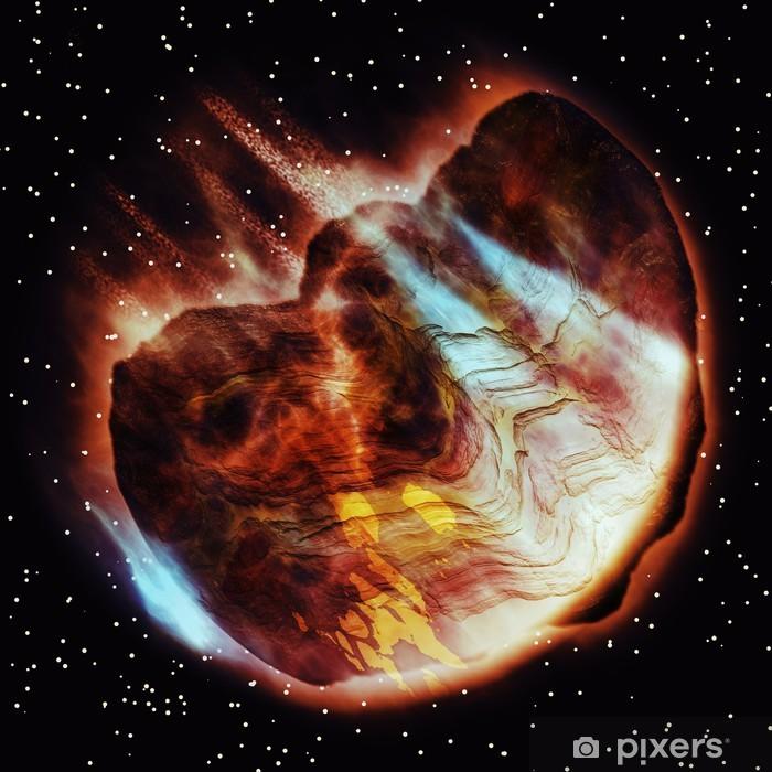 Nálepka Pixerstick Abstract asteroid - Meziplanetární prostor