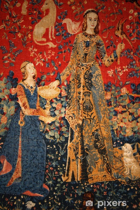 Sticker Pixerstick La Dame à la Licorne : reproduction - Art et création