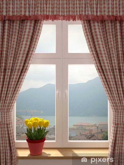 Fototapeta winylowa Okno z pięknym widokiem - iStaging