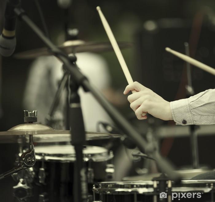 Naklejka Pixerstick Perkusista - Muzyka