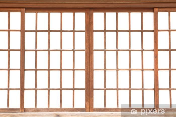 Sticker Pixerstick Texture du papier japonais coulissant porte Shoji - Industrie lourde