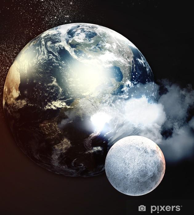 Sticker Pixerstick Image de planètes dans l'espace - Espace