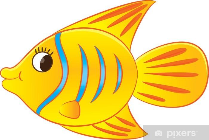 Sticker Pixerstick Cartoon poissons exotiques - Sticker mural
