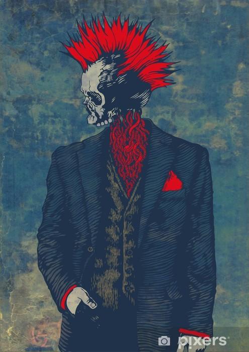 punk skeleton Pixerstick Sticker - Other Feelings