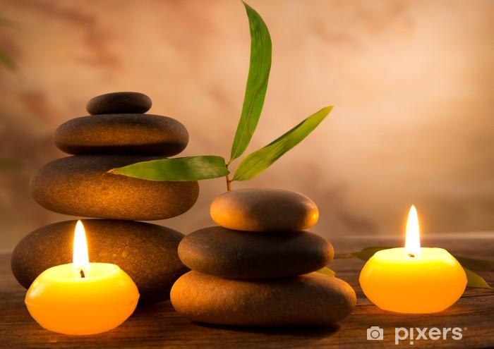 Spa-asetelma aromaattisilla kynttilöillä Pixerstick tarra - Styles