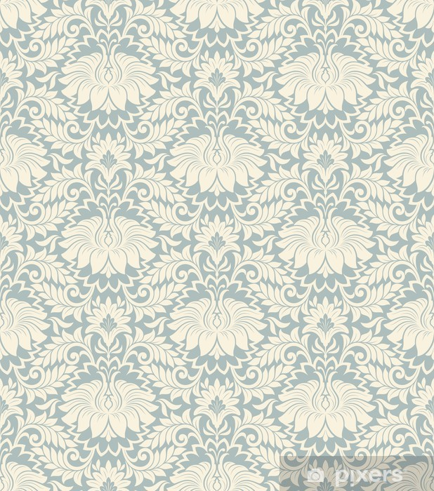 seamless vintage flower pattern background vector Vinyl Wall Mural - Styles