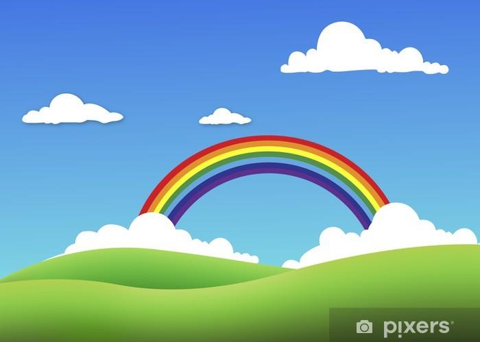 rainbow Pixerstick Sticker - Skies