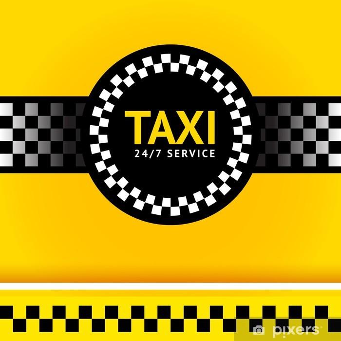 Adesivo Pixerstick Simbolo Taxi, piazza - Segni e Simboli