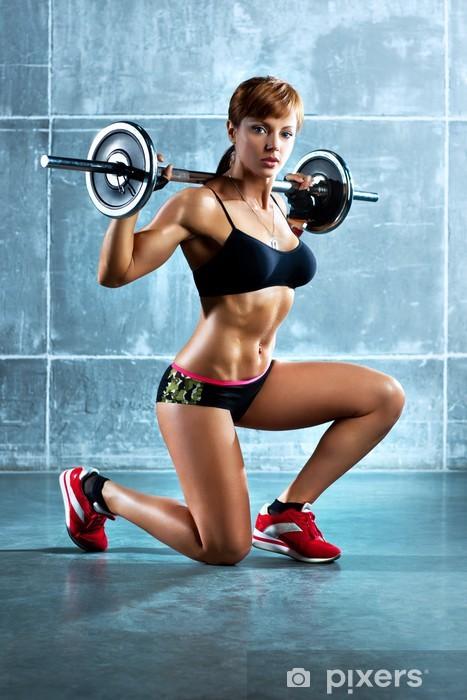 Fototapeta winylowa Młoda kobieta sportowe - Zdrowie