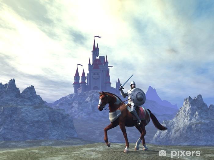 Papier peint vinyle Knight and Castle - Chevaliers