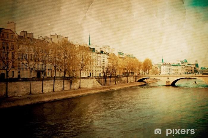 Vinyl-Fototapete Schönen Pariser Straßen - Private Gebäude