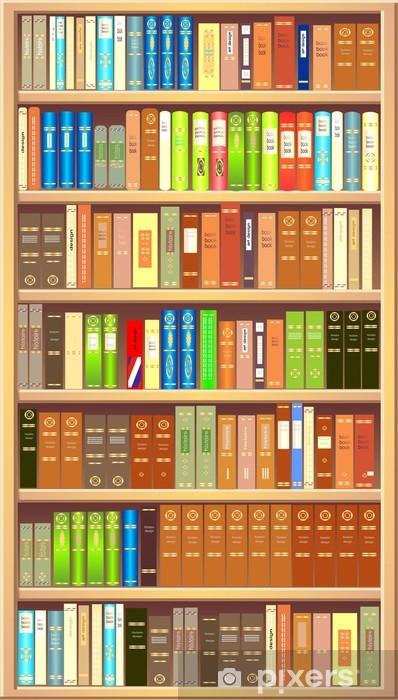 vinyl fotobehang boekenkast bibliotheek