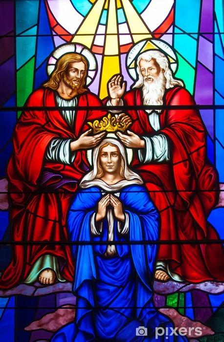 Fototapeta winylowa Witraż w kościele katolickim - Religie