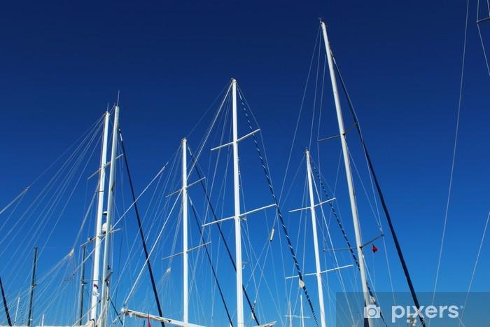 Vinilo Pixerstick Mástiles de barcos - Vacaciones