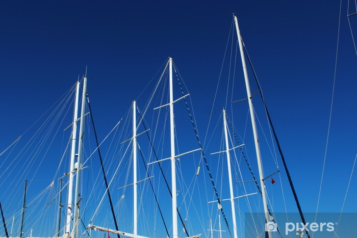 Sailing ship masts Vinyl Wall Mural - Holidays