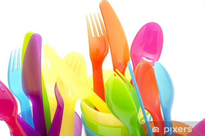 Colored cutlery Pixerstick Sticker - Themes